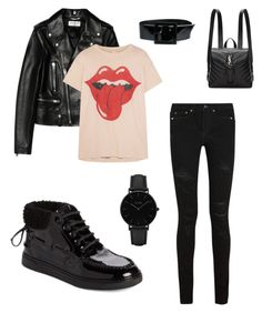 """Blackday"" by fdaraiza on Polyvore featuring moda, Yves Saint Laurent, MadeWorn y CLUSE"