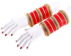 A Designer Fashion Bangles/Churi Set That Make You Feel Royal. Wedding Chura, Wedding Jewelry, Punjabi Chura, Bridal Chuda, Bridal Bangles, Punjabi Wedding, Indian Bridal, Fashion Jewelry, Stone