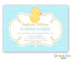 Rubber Ducky Duck Custom Baby Shower invitation