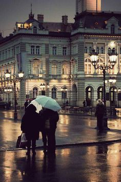 #winter#street#rain 💙