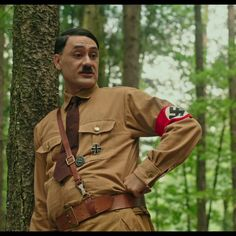 """Writer director and now actor as """"Adolf Hitler"""", Taika Waititi brings his signature style of humor and pathos to his latest film, JOJO RABBIT. Scarlett Johansson also played the role of a mother of young kid whose world view is totally changed when his mother hide a Jewish girl during the World War II.  #jojorabbit #taikawaititi #scarlettjohansson #moviesengage #trailers #adolfhilter #adolf #moviestowatch #blackwidowmovie #worldwar2 #jewish #teaser #comedy #rebel #mother #official…"""