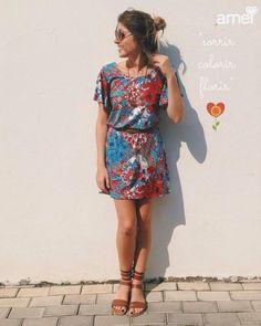 Sorriu ❤️ #lojaamei #etiquetaamei #cores #vestido #gladiadora #flores