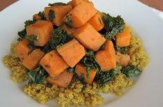 Receta Quinoa con camote y kale | Los Sabores de México y el mundo