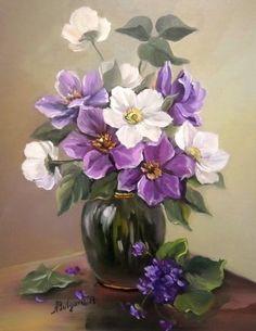 "Anca Bulgaru – ""Flowers of Zorilor"" - New Deko Sites Art Floral, Oil Painting Flowers, Painting & Drawing, Flower Vases, Flower Art, Container Flowers, Pictures To Paint, Painting Inspiration, Watercolor Art"