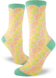 fbdfc06f131 These cute citrus socks for women are like a big scoop of rainbow sherbet  for your