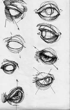 Curvature of the eyeball and eyelid disegno occhi, disegni di occhi, anatom Pencil Art Drawings, Art Drawings Sketches, Pencil Sketching, Realistic Drawings, Eye Drawing Tutorials, Drawing Techniques, Drawing Tips, Human Anatomy Drawing, Anatomy Art