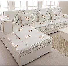 Four Seasons General upscale solid color cotton antiskid sofa cover leather sofa slipcover cover towel sectional