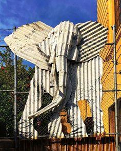 Urban wildlife . . . . #urban #suburban #wildlife #elephant #elephants # #iron #corrugated #bent #art #artist #sculpture #sculptures #artists #artistsoninstagram #artsy #artofinstagram #photooftheday #instadaily #instagood #iger #insta #sydney #beauty #beautiful #twisted #metal #awesome #amazing #animal