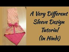 Latest Beautiful Sleeve Design Cutting & Stitching (Easy Way) in Hindi by Sara Art And Design Kurti Sleeves Design, Sleeves Designs For Dresses, Dress Neck Designs, Sleeve Designs, Kurta Designs, Blouse Designs, High Collar Blouse, Sewing Sleeves, Cute Little Girls Outfits