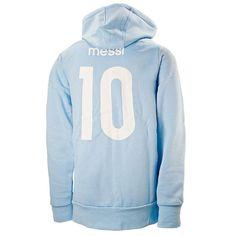 01b4efdc9 Adidas Men s Argentina AFA Messi Hoodie (Blue) Soccer Hoodies