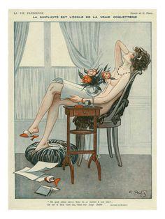 La Vie Parisienne, Maurice Milliere, 1919, France Premium Poster at Art.co.uk