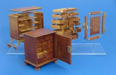 Exploded View of a Chester County Spice Chest by Wm. R. Robertson - Furniture 2 - Gallery - IGMA Fine Miniatures Forum