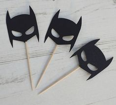 Batman Mask Cupcake/Cake Toppers Party Decoration