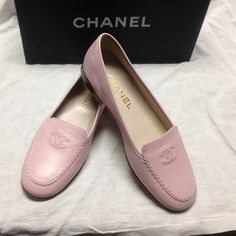 """Spotted while shopping on Poshmark: """"Authentic New CHANEL CC Logo Pink Loafers""""! #poshmark #fashion #shopping #style #CHANEL #Shoes"""