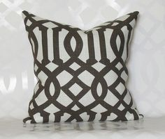 Imperial Trellis Charcoal Pillow