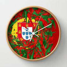 Portugal Wall Clock by Danny Ivan - $30.00