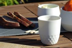 Faceted Porcelain Cup by Ackilee on Etsy, €16.00