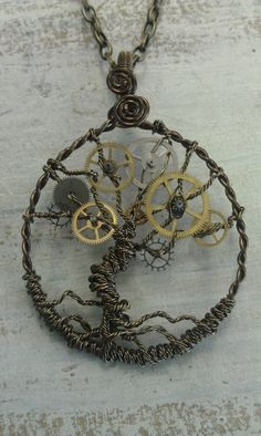 steampunk jewelry (love the tree!)