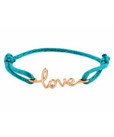 beautiful 14k rose gold Avanessi One Love Turquoise Cord Bracelet!