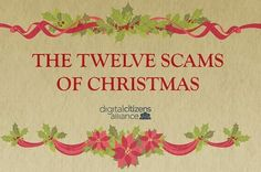 A great round up of things to be mindful of to keep yourself from getting scammed during the holidays ~ A holiday classic with an Internet safety twist.