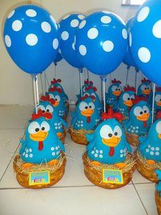Decoração párrafo Festa Infantil Galinha Pintadinha