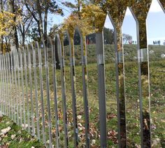 The mirrored fence is a concept designed by an American designer named Alyson Shotz from Brooklyn NY, and is a sure fire way to injure your dog, birds, or stupid humans. The mirrored fence creates an ...
