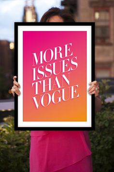 More Issues Than Vogue Poster Print by TheMotivatedType @Etsy Typography Art, Inspirational Home Decor, Colorful Design, Girly Pink https://www.etsy.com/shop/TheMotivatedType