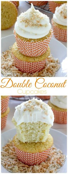 Coconut Cupcakes - soft, fluffy, and full of coconut flavor!