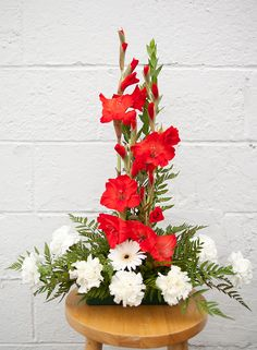 altar flower arrangements | Church Arrangement2