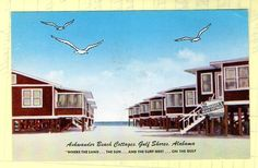 Gulf Shores Alabama Ashwander Beach Cottages - Circa 1950s - 1960s