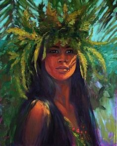 Haumea in Hawaiian myth is the mother of island chiefs and ancestress of the Hawaiian people. The fire goddess Pele sprang from the sacred thighs of Haumea. Myths connected with her name tell of her as a goddess from Nu'umealani who has power to change her form and to alter her appearance from youth to age or from age to youth through the possession of a marvelous fish-drawing branch called Makalei.