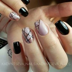 Geometric nails #nails #nailart #fbloggers #bbloggers #fashionbloggers #fallnails