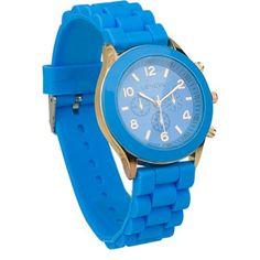 Men's/Women's Unisex Analog Quartz Wrist Watch with Silicone Band Sky Blue