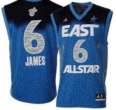 d58dbac73 2012 All Star Heat  6 LeBron James Blue Stitched NBA Jersey Volleyball  Jerseys