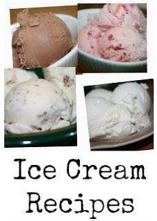 Ice Cream Recipes for Cuisinart Ice Cream Maker- Chocolate, Strawberry, Vanilla, Butter Pecan, and Peach.