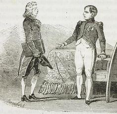 Napoleon reprimandiant Talleyrand