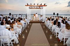 Gorgeous beach wedding.