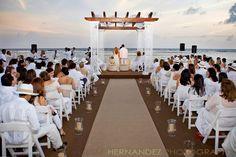 Gorgeous destination wedding.