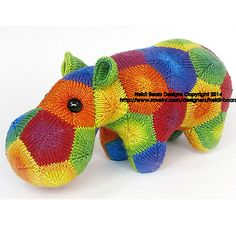 Ravelry: Knitapotamus the Knitted Hippo pattern by Heidi Bears  Now you can knit one as well as crochet one!