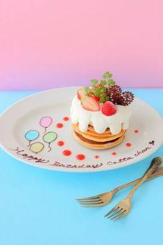 「バースデーパンケーキ」あいりおー | お菓子・パンのレシピや作り方【corecle*コレクル】