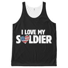 i love my soldier All-Over-Print tank top - love gifts cyo personalize diy