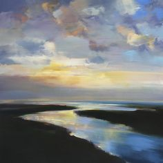 """""""Soft Coastal Light"""" by Craig Mooney. Oil on Canvas. 48"""" X 48"""". Available at www.maine-art.com."""
