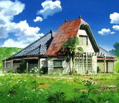 The Art of Studio Ghibli - The house from My Neighbor Totoro Studio Ghibli Background, Animation Background, The Neighbor, My Neighbor Totoro, Hayao Miyazaki, Traditional Japanese House, Picture Source, Castle In The Sky, World Of Fantasy