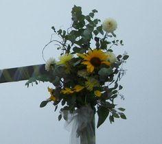 Dahlia Sunflower Arbor Arrangement 2012 | Dahlia Wedding Photos