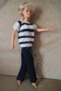 Closer To Truth: Is Time Travel Possible? Ken Doll, Barbie Dolls, Habit Barbie, Knitting Patterns Free, Free Knitting, Crochet Doll Clothes, Barbie Clothes, Barbie Stuff, Doll Stuff