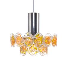No. 2014 - orange Plexiglas and brass pendant by Claus Bolby, CEBO - 1970s - Danish mid-century design lighting. Cute orange hanging lamp. by DanishVintageDesigns on Etsy