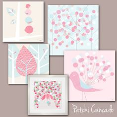 Adorable kids wall art by Patchi Cancado helps get the look of one of our top kids bedroom pins!