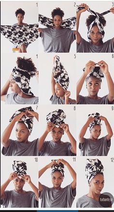 Trendy vintage makeup tutorial head scarfs Trendy Vintage Make-up Tutorial Kopftücher Bad Hair, Hair Day, Natural Hair Care, Natural Hair Styles, Natural Makeup, Natural Shampoo, Headwraps For Natural Hair, Natural Hair Tutorials, Mode Turban