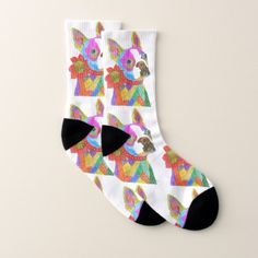 Boston Terrier Socks - Small (You can Customize) - animal gift ideas animals and pets diy customize