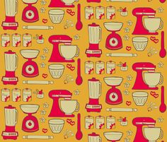 time for baking fun v.2 fabric by ©doris